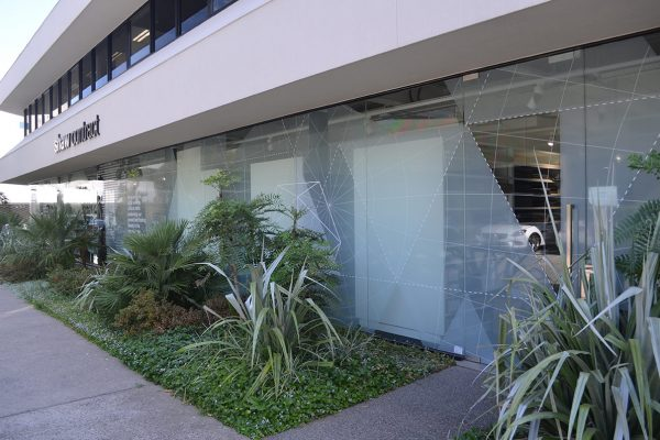 Showroom glass front