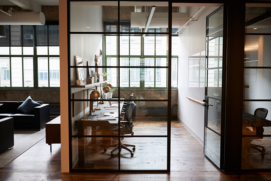 Office glass booth